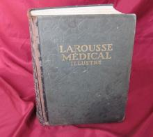 1924 antique French hardcover encyclopedia book – Larousse Medical Illustrated