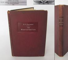 1921 antique German medical hardcovered book Onanism Rare