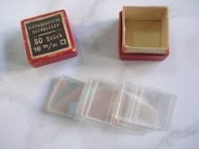 Antique medical boxed set of microscope slide glasses