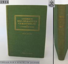 1924 antique German medical hardcover book Obstetrics