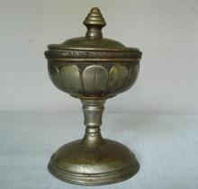 19c. antique Imperial Russia silvered bronze cup goblet