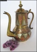 19c. antique massive bronze teapot Islamic Arabian style