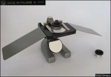 Vintage medical dissection slide preparation microscope