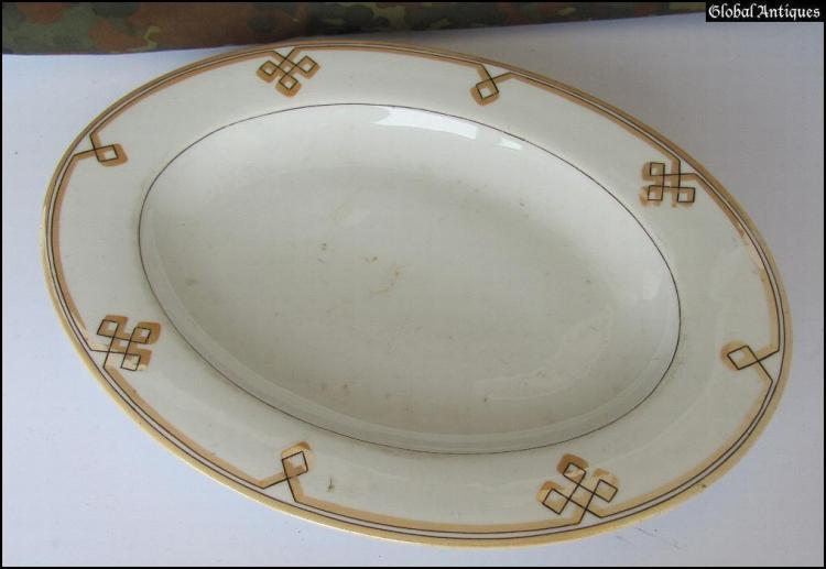 WW2 original German Waffen SS Prinz Eugen dinner plate with odal rune Xtr.Rare & WW2 original German Waffen SS Prinz Eugen dinner plate with
