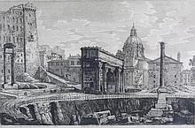 Rossini, Luigi Engraving Rome - Colonna di Foca 1822
