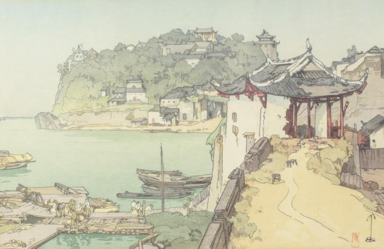 Hiroshi, Yoshida Woodblock Print Shizhongshan