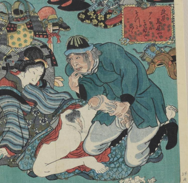 Sadahide, Utagawa American Sailor Japanese Coresean