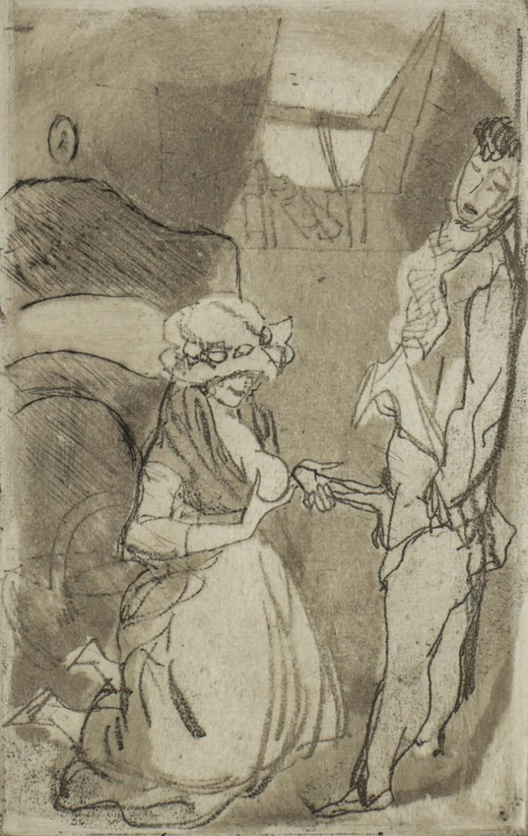 Vertes, Marcel Erotic Etching, No. 6