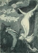 Vertes, Marcel Erotic Etching, No. 1 Temptation signed