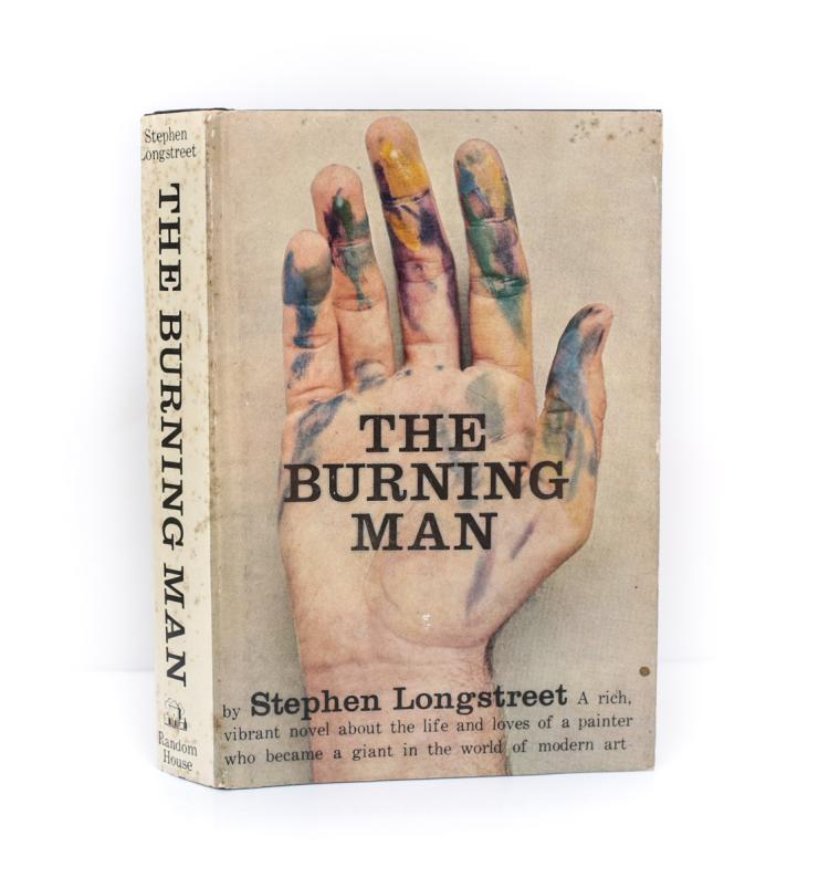 Longstreet, Stephen The Burning Man 1st Ed Signed w/ DJ