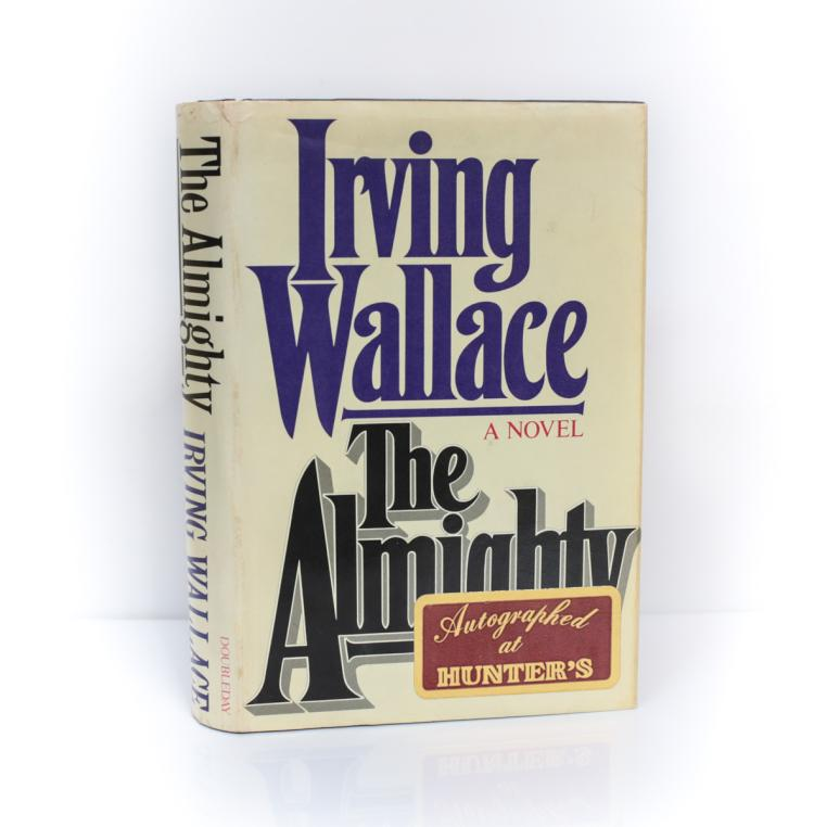 Wallace, Irving The Almighty Doubleday 1st Ed Signed DJ