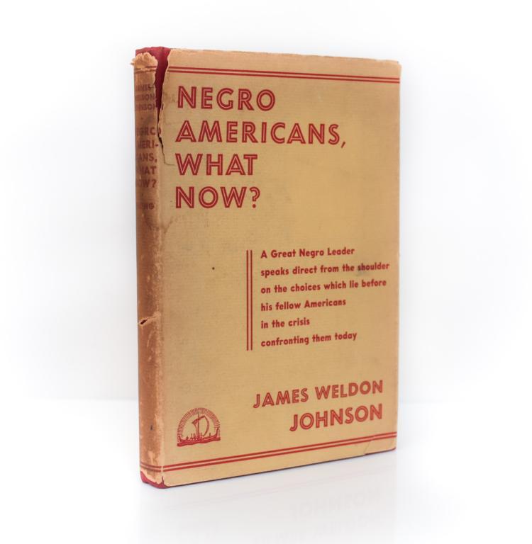 Johnson, James Negro Americans, What Now? 3rd Print DJ