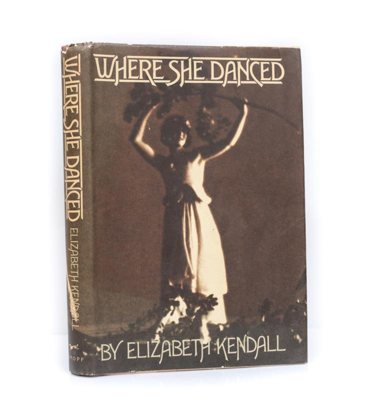 Kendall, Elizabeth Where She Danced 1st Ed Signed w DJ