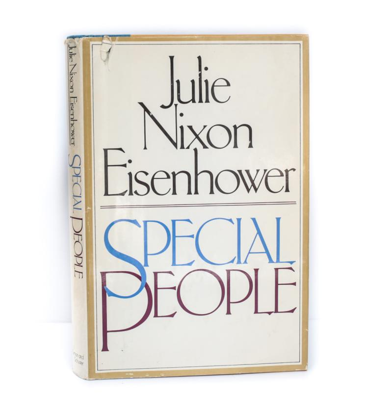Eisenhower, Julie Nixon Special People 1st Ed Signed DJ
