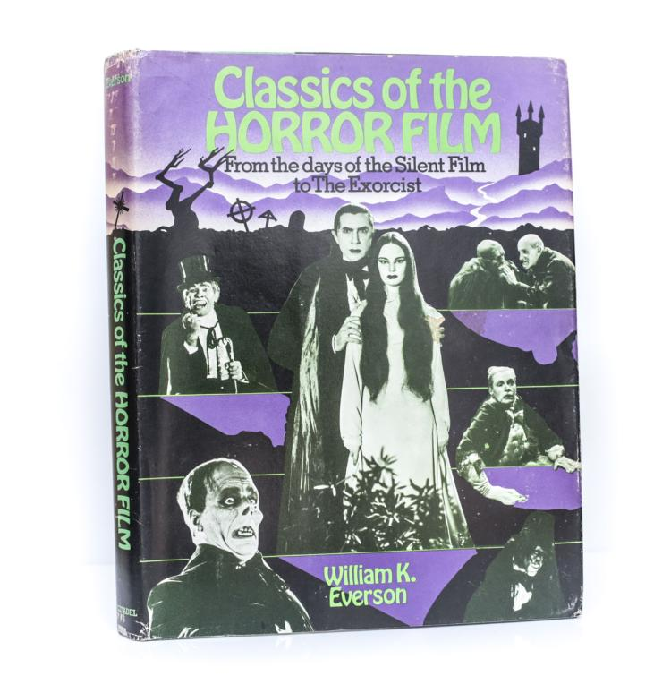 Everson, William Classics Horror Film 1st Ed Signed DJ