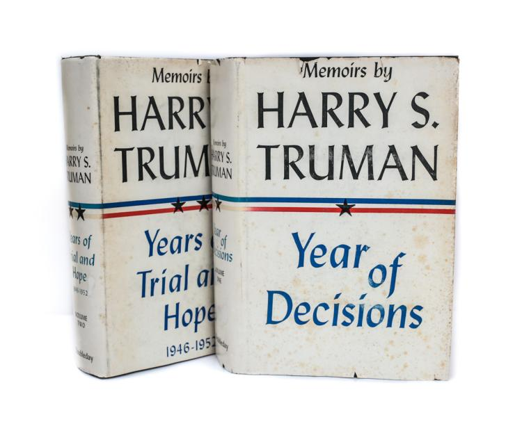 Truman, Harry S Memoirs by Harry S Truman 1st Ed w DJ