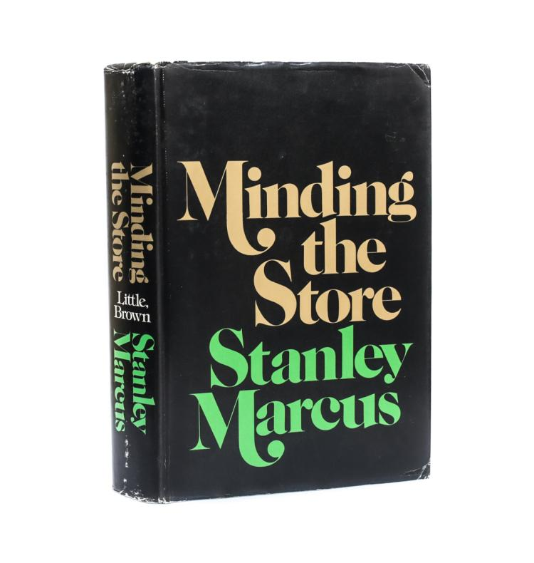 Marcus, Stanley Minding the Store 1st Ed Signed w DJ