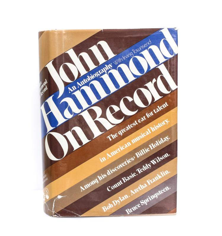 Hammond, John John Hammond on Record 1st Ed Signed w DJ