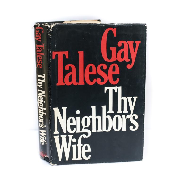 Talese, Gay They Neighbors Wife Signed 1st Ed w DJ