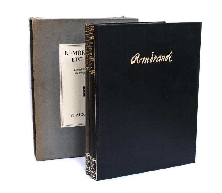 Munz, Ludwig Rembrandt's Etchings 2 Vols 1st Ed Slipcase