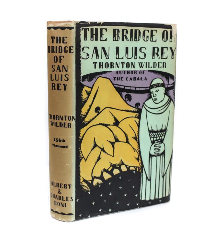 Wilder, Thornton, The Bridge of San Luis Rey 1928 w DJ