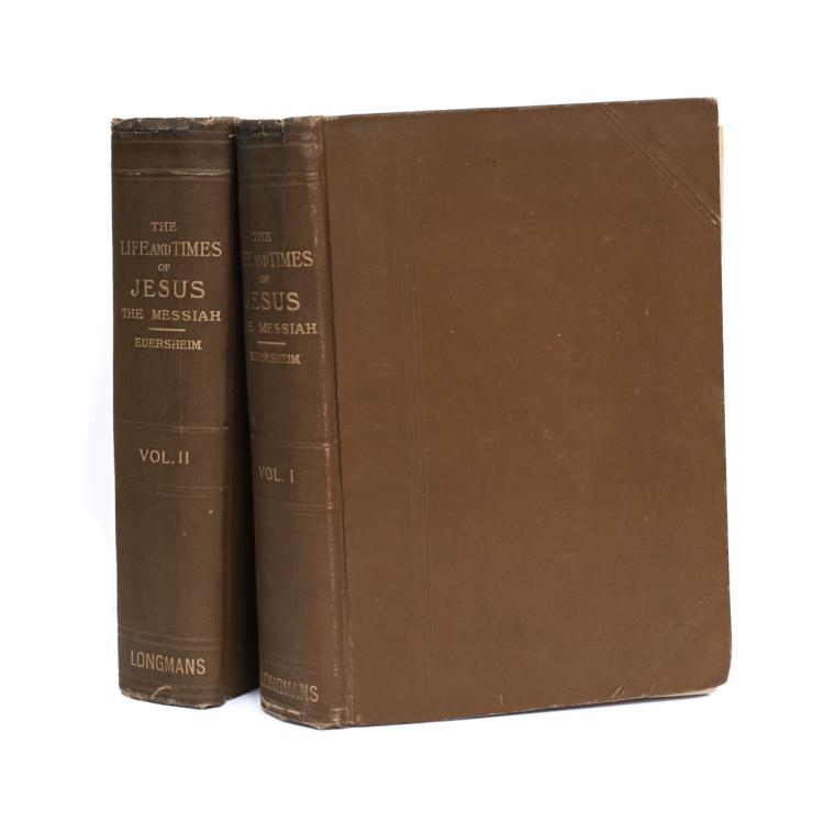 Rev Alfred Edersheim The Life & Times of Jesus  1896