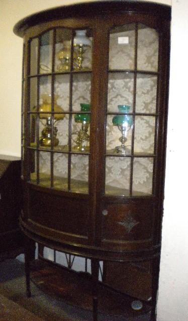 Demi lune display cabinet for 7 furniture doral fl