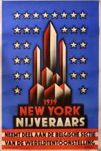 1939/ NEW YORK/ NIJVERAARS/ NEEMT DEEL AAN DE BELGISCHE SECTIE/ VAN DE WERELDTENTOONSTELLING.