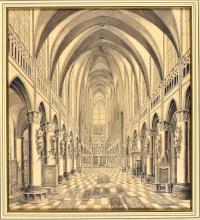 "HERREYNS, Willem Jacob ""S. Rumoldi"" [St Rumbold's cathedral, Mechelen]. C."
