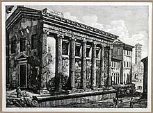 - ROSSINI, Luigi (1790-1859).- 2 gravures :