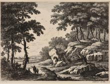 KNORR, Georg Wolfgang - 2 landscapes.