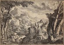 GRIMALDI, Giovanni Francesco - St Francis receiving the Stigmata.