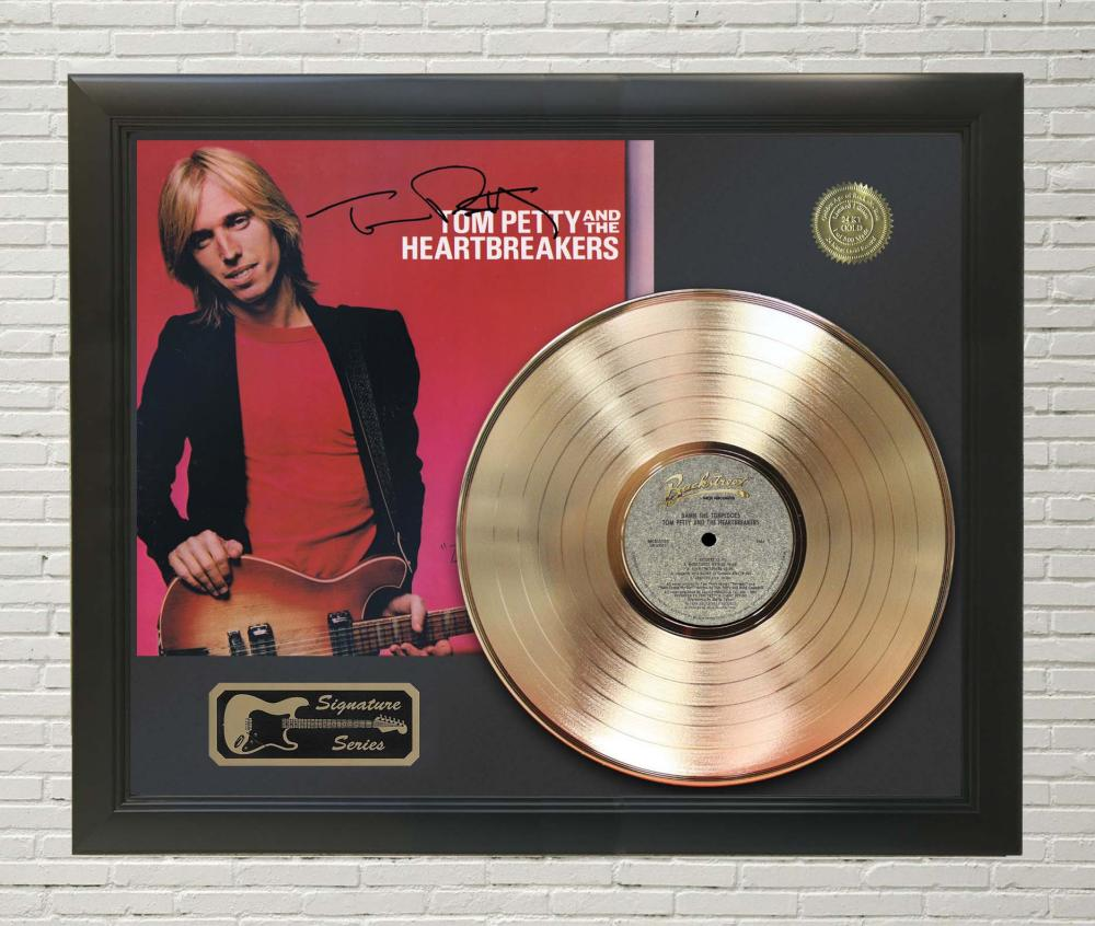 Tom Petty – Damn The Torpedoes Framed Signature Gold LP Record Display