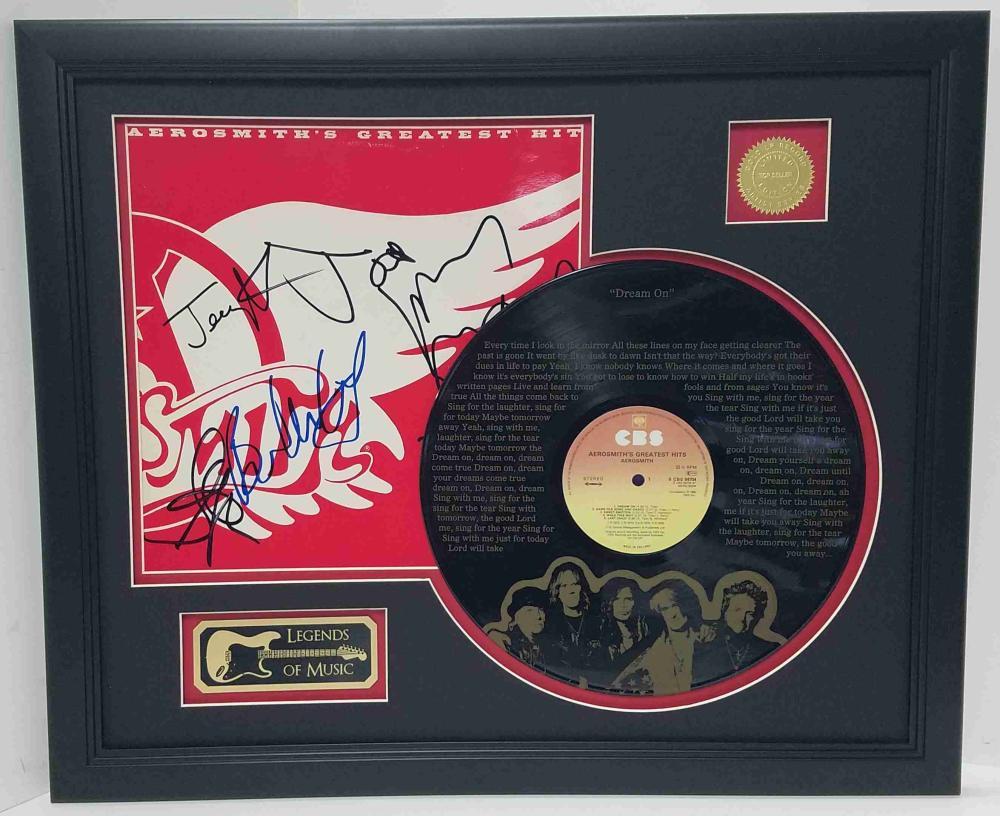 Aerosmith – Dream On Etched Lyrics Framed Display
