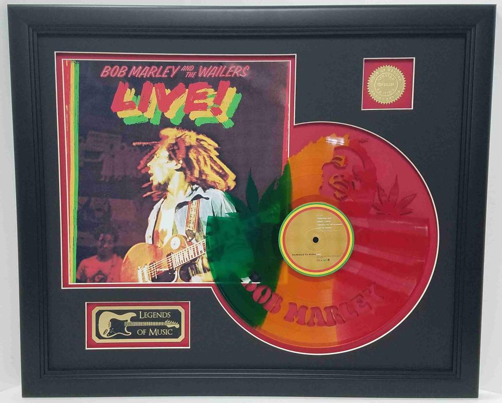 Bob Marley – Live! Laser Cut Color Vinyl Framed Display