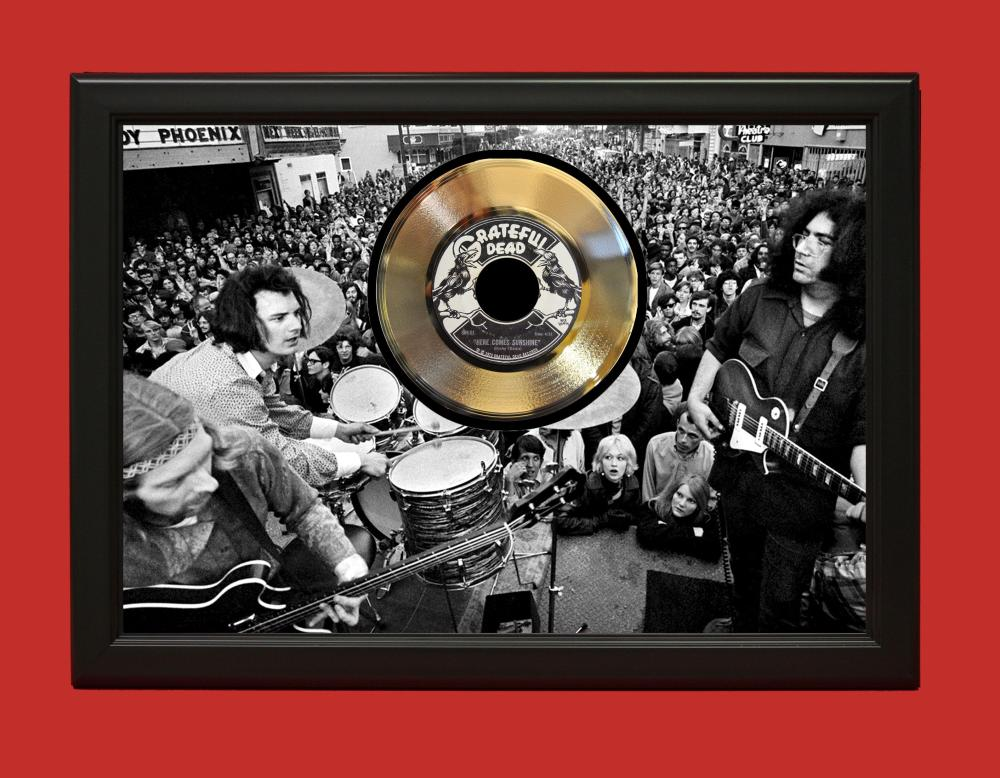 Grateful Dead – Here Comes Sunshine Poster Art Wood Framed 45 Gold Record Display