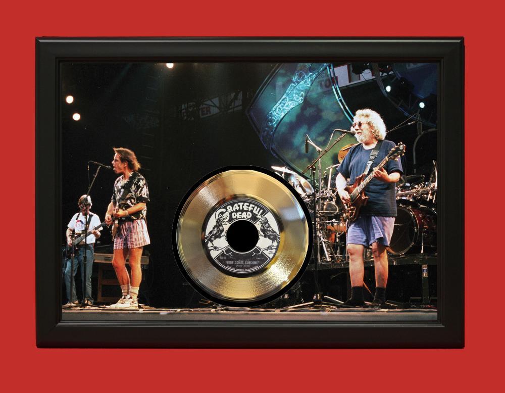 Grateful Dead – Here Comes Sunshine #2 Poster Art Wood Framed 45 Gold Record Display