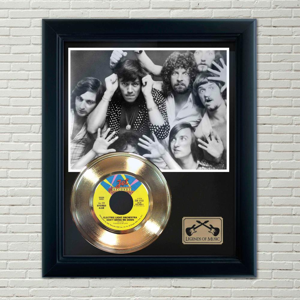 ELO – Don't Bring Me Down Gold Framed Record Display