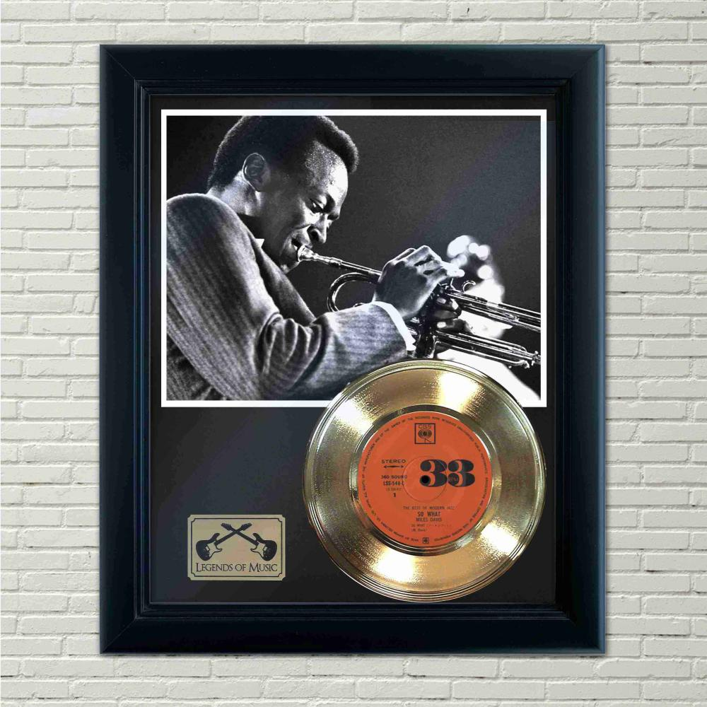 Miles Davis – So What Gold Framed Record Display