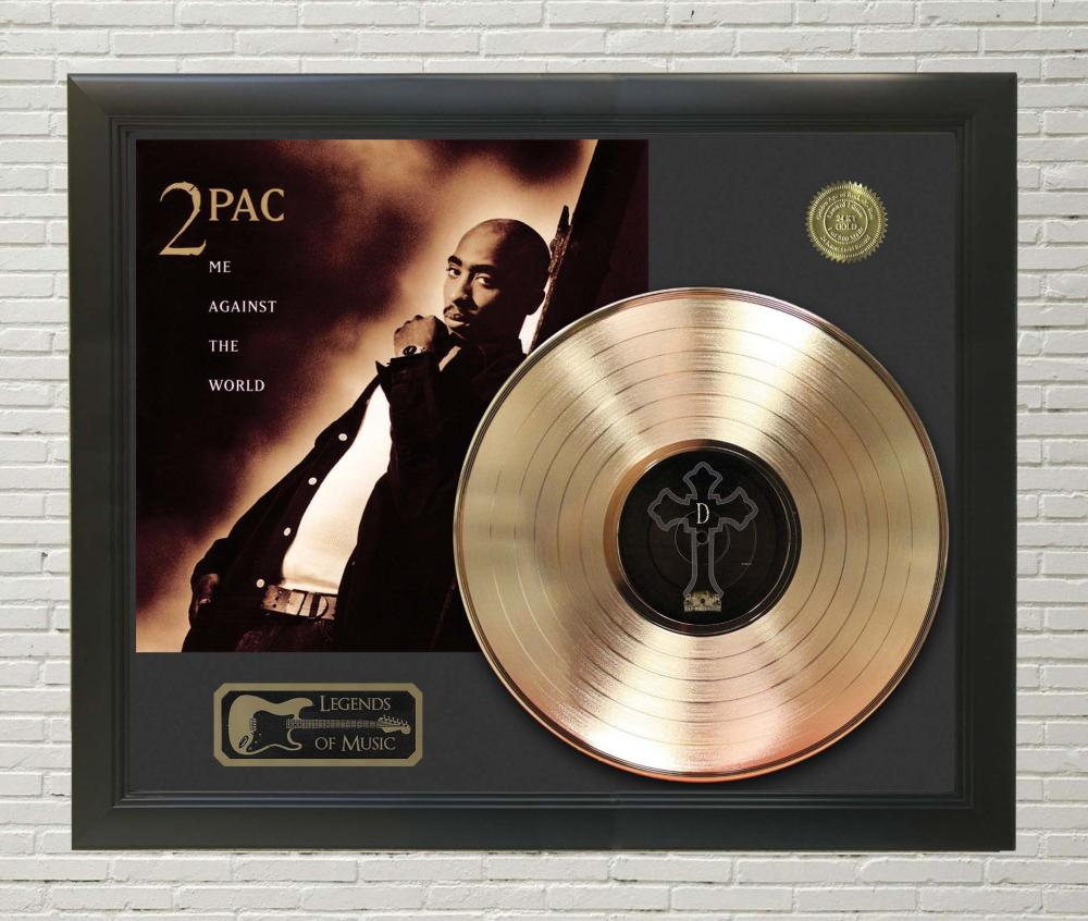 2Pac – Me Against The World Framed Gold Record LP Display