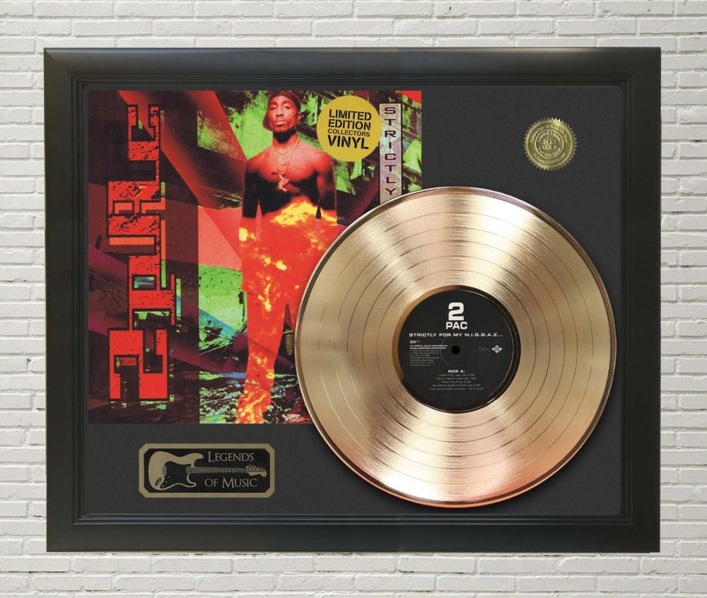 2Pac – Strictly For My N**** Framed Gold Record LP Display