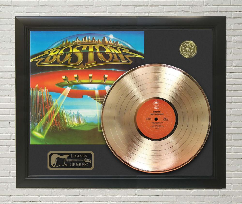 Boston – Don't Look Back Framed Gold Record LP Display