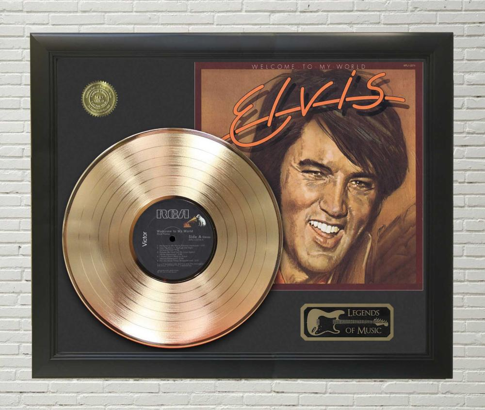 Elvis – Welcome To My World Framed Gold Record LP Display