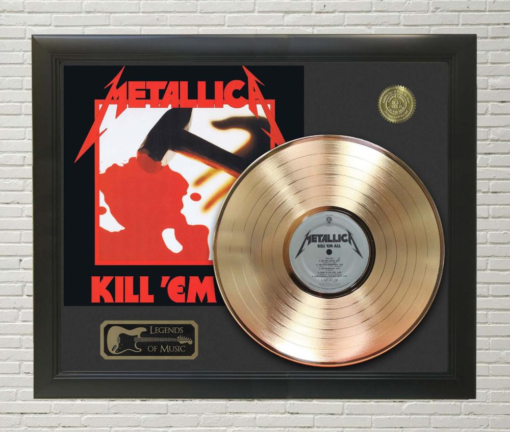 Metallica – Kill Em All Framed Gold Record LP Display