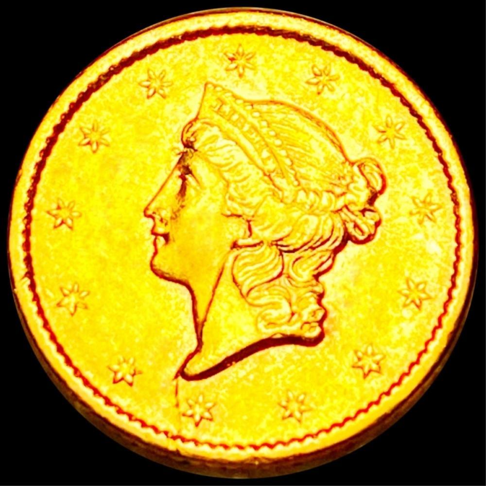 1854-S Rare Gold Dollar UNCIRCULATED