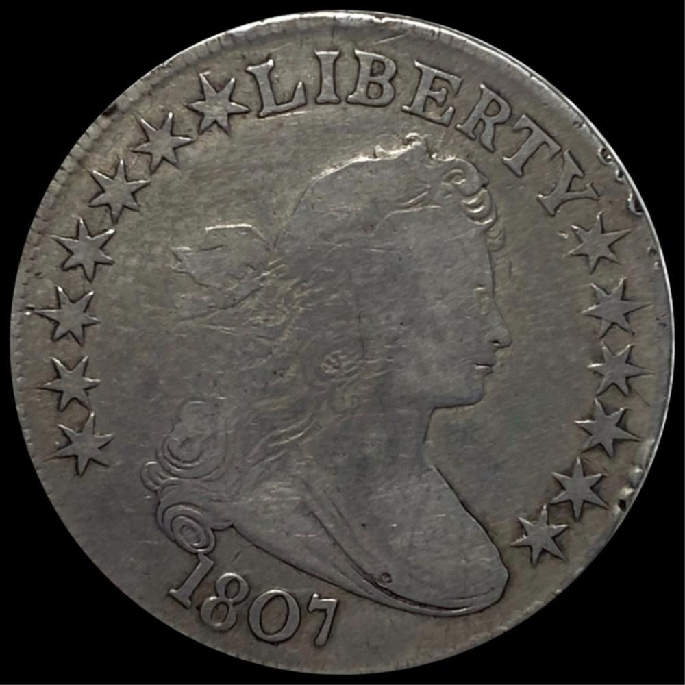 1807 Draped Bust Half Dollar NICELY CIRCULATED