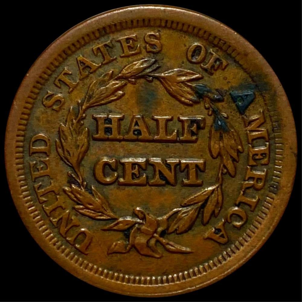 1853 Braided Hair Half Cent UNCIRCULATED