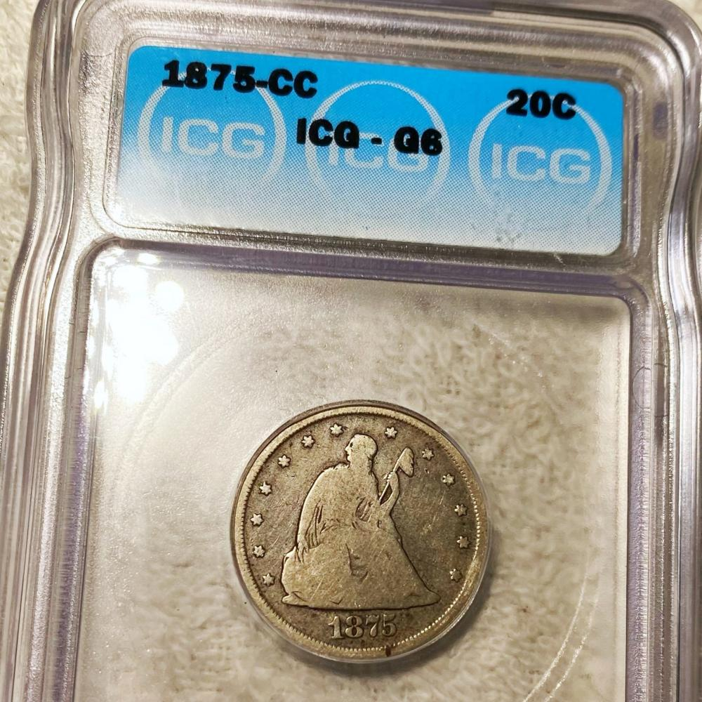 1875-CC Seated Twenty Cent Piece ICG - G6