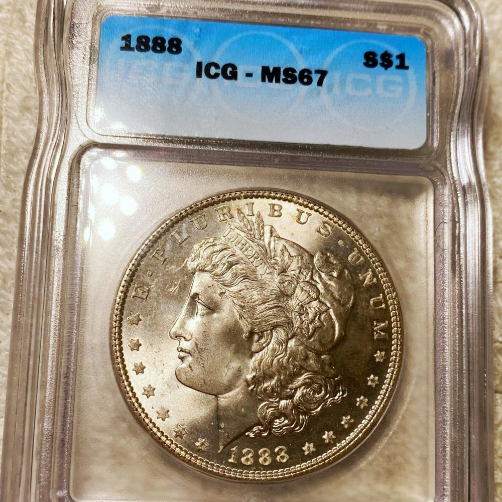1888 Morgan Silver Dollar ICG - MS67