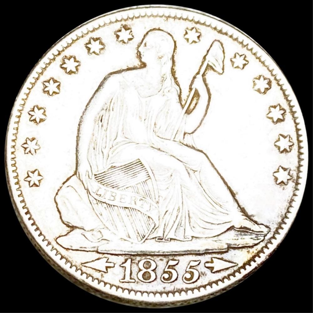 1855-O Seated Half Dollar CLOSELY UNC